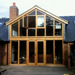 Oak and Glass construction D M Perry Startford upon Avon